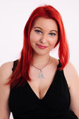 Young plump red-haired woman — Stock Photo