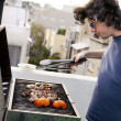 Rooftop Grillin - Stock Photo