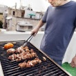 Rooftop Grillin' — Stock Photo