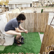 Foto de Stock  : Using Rooftop Lavatory