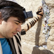 Jewish Man Praying at the Western Wall — Stock Photo #22383951