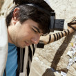 Jewish Man Praying at the Western Wall — Stock Photo #22383999