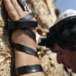 Jewish Man Praying at the Western Wall — Stock Photo #22384127