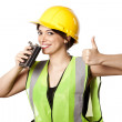 Alcohol Safety Woman Thumbs Up — Stock Photo