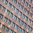 Tilted Building Windows Pattern — Stock Photo