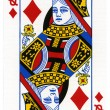 Постер, плакат: Playing Card Queen of Diamonds