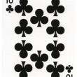 Постер, плакат: Playing Card Ten of Clubs