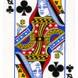 Playing Card - Queen of Clubs — Stock Photo #22389065