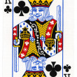 Playing Card - King of Club — Stock Photo