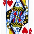 Playing Card - Queen of Hearts — Stock Photo