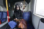 Bus Woman — Stock Photo