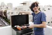 Joyful Grillin — Stock Photo