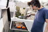 Rooftop Grillin — Stock Photo