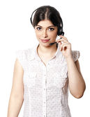 Isolated Call Center Woman — Stock Photo
