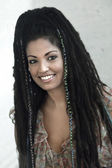 Smiling Rasta Woman — Stock Photo