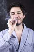 Satisfied Pothead — Stock Photo