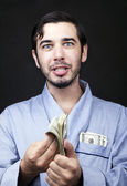 Make Cash in Your Robe! — Stock Photo