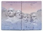 USA Passport Blank Page — Stock Photo