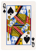 Playing Card - Queen of Spades — Stock Photo