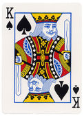 Playing Card - King of Spades — Stock Photo