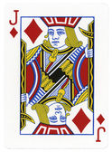 Playing Card - Jack of Diamonds — Stock Photo