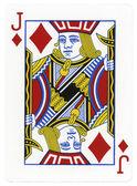 Playing Card - Jack of Diamonds — Stock Photo