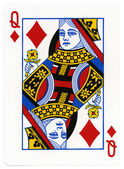 Playing Card - Queen of Diamonds — Stock Photo