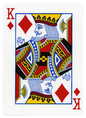Playing Card - King of Diamonds — Stock Photo