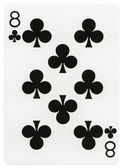 Playing Card - Eight of Clubs — Stock Photo