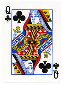 Playing Card - Queen of Clubs — Stock Photo