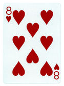 Playing Card - Eight of Hearts — Stock Photo