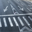 Intersection Zebra Crossing — Stock Photo