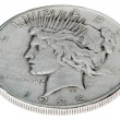 Peace Dollar - Heads High Angle — Stock Photo