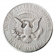 Silver Kennedy Half Dollar - Tails Frontal — Stock Photo