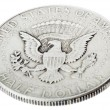 Silver Kennedy Half Dollar - Tails High Angle — Stock Photo