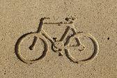 Bicycle Lane Diagram — Stock Photo
