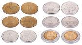 Israeli Coins - High Angle — Stock Photo