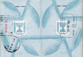 Stamped Israeli Passport — Stock Photo