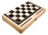 Isolated Backgammon Box - Closed — Stock Photo