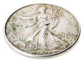 Walking Liberty Half Dollar - Heads High Angle — Stock Photo