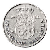 Isolated 1 Gulden - Tails Frontal — Stock Photo