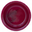 Bottom side of a pink plastic bottle cap — Foto Stock