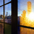 Lower Manhattan Skyline Afternoon Window — Stok fotoğraf