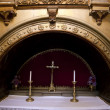 A humble altar in a chapel - Stockfoto