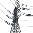 Isolated Electricity Pylon — Stock Photo