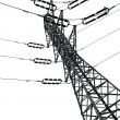 Isolated Electricity Pylon — Stockfoto