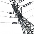 Isolated Electricity Pylon — Foto Stock