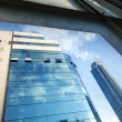 Office Buildings Through Window — 图库照片