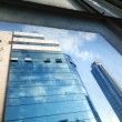 Office Buildings Through Window - Stock Photo