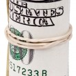 Roll of 100 US dollar Bills — Stock Photo #22404557